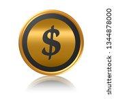 dollar gold sign. | Shutterstock . vector #1344878000