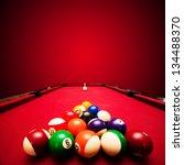 Billards Pool Game. Color Balls ...
