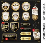 golden sale labels retro... | Shutterstock .eps vector #1344890816