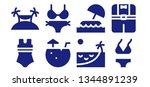 bikini icon set. 8 filled...   Shutterstock .eps vector #1344891239