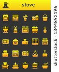 stove icon set. 26 filled stove ... | Shutterstock .eps vector #1344892196