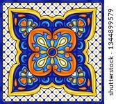 mexican talavera ceramic tile...   Shutterstock .eps vector #1344899579
