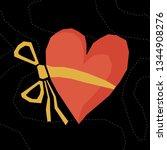abstract paper cut heart... | Shutterstock .eps vector #1344908276