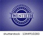 twentieth badge with jean... | Shutterstock .eps vector #1344910283