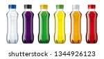 bottles for water  juice ... | Shutterstock . vector #1344926123