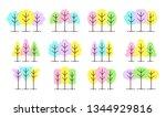 simple geometric tree symbols....   Shutterstock .eps vector #1344929816
