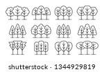 simple geometric tree symbols....   Shutterstock .eps vector #1344929819