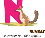 cute animal zoo alphabet.... | Shutterstock .eps vector #1344930689