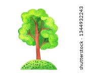 summer tree isolated on white... | Shutterstock . vector #1344932243