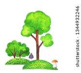 set of cute scandinavian tree... | Shutterstock . vector #1344932246