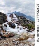 mountain waterfall stream in... | Shutterstock . vector #1344932603