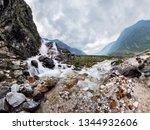 mountain waterfall stream in... | Shutterstock . vector #1344932606