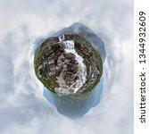 mountain waterfall stream in... | Shutterstock . vector #1344932609