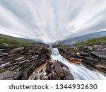 mountain waterfall stream in... | Shutterstock . vector #1344932630