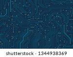 circuit board background.... | Shutterstock .eps vector #1344938369