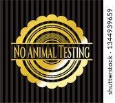 no animal testing gold emblem | Shutterstock .eps vector #1344939659