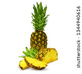 pineapple low poly. fresh ... | Shutterstock .eps vector #1344940616