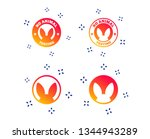no animals testing icons. non... | Shutterstock .eps vector #1344943289