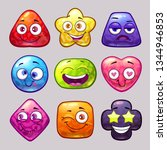 funny cartoon colorful glossy... | Shutterstock .eps vector #1344946853