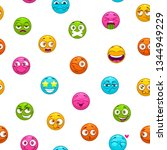 seamless pattern with funny... | Shutterstock .eps vector #1344949229