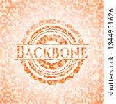 backbone orange mosaic emblem... | Shutterstock .eps vector #1344951626