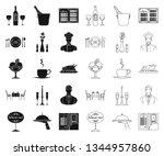 restaurant and bar black...   Shutterstock .eps vector #1344957860