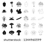forest and nature black outline ... | Shutterstock .eps vector #1344960599