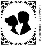 Black And White Silhouettes Of...