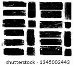grunge paint roller . vector... | Shutterstock .eps vector #1345002443