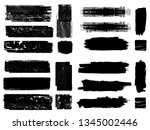 grunge paint roller . vector... | Shutterstock .eps vector #1345002446