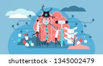 neurology vector illustration.... | Shutterstock .eps vector #1345002479