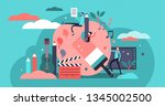 arts vector illustration. flat... | Shutterstock .eps vector #1345002500