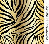 vector animal print. zebra... | Shutterstock .eps vector #1345005443