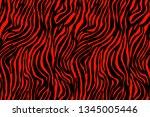 vector animal print. zebra... | Shutterstock .eps vector #1345005446