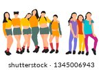 vector on a white background... | Shutterstock .eps vector #1345006943