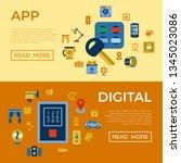 wireless smart and digital... | Shutterstock . vector #1345023086