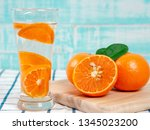 summer refreshing drink  citrus ... | Shutterstock . vector #1345023200