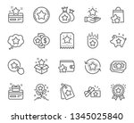 loyalty program line icons.... | Shutterstock .eps vector #1345025840