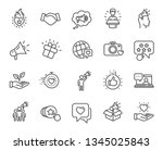 brand ambassador line icons.... | Shutterstock .eps vector #1345025843