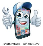 a mobile phone repair service... | Shutterstock .eps vector #1345028699