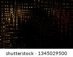 abstract pattern. liquid marble ... | Shutterstock . vector #1345029500