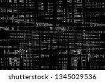 abstract pattern. liquid marble ... | Shutterstock . vector #1345029536