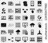 data icons set. simple style of ... | Shutterstock .eps vector #1345047980