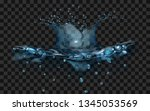 translucent water surface with...   Shutterstock .eps vector #1345053569