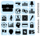 set of 22 business icons ... | Shutterstock .eps vector #1345055333