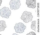 dark blue vector seamless...   Shutterstock .eps vector #1345071833