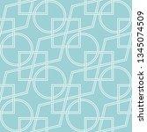 geometric seamless pattern.... | Shutterstock .eps vector #1345074509