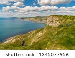 south west coast path with a... | Shutterstock . vector #1345077956