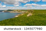 stone bench at the south west... | Shutterstock . vector #1345077980