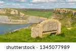 stone bench at the south west... | Shutterstock . vector #1345077989
